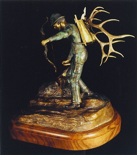 Bow Hunter Bronze Sculpture