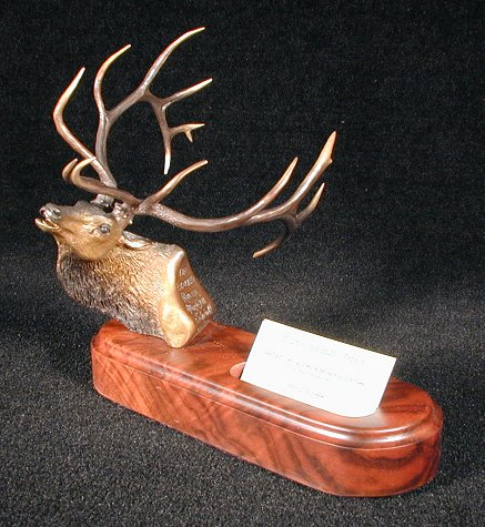 Exalted Ruler, Bull Elk Head Bronze Sculpture