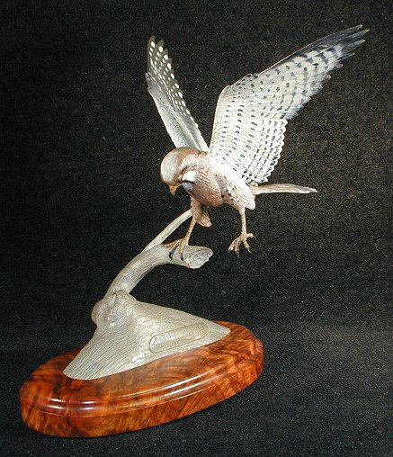 Majestic Falcon Bronze Sculpture