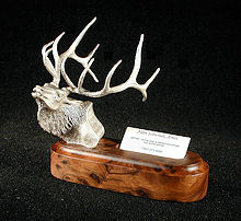 Exalted Ruler - Bull Elk Silver Sculpture