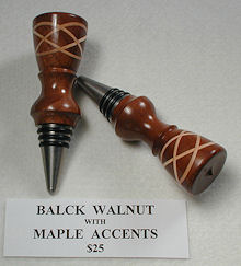 walnut maple stopper