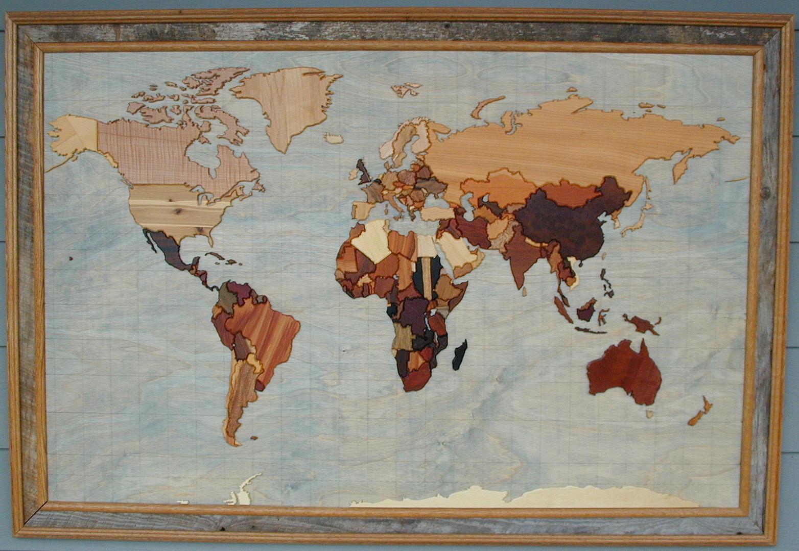 Artist Schwindt World Map